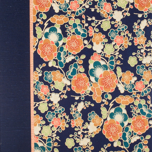 Navy Vintage Flower Photo Album