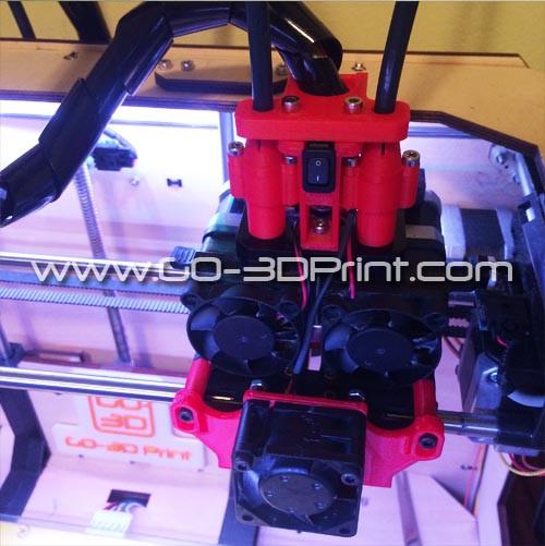 3D Printer Complete Cooling Set for FlashForge Creator & Makerbot Replicator