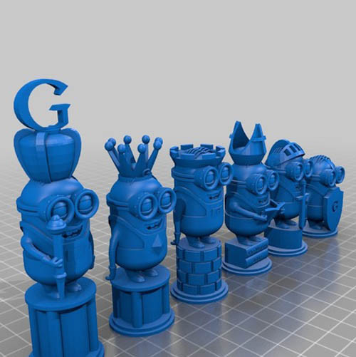 Minion Chess Set