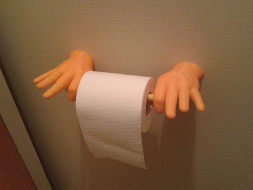 'OK hand' Toilet Paper Roller with screw slots
