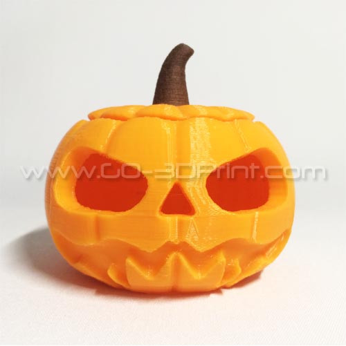 Halloween Jack-O-Lantern Pumpkin Tea Light with Wood Stem