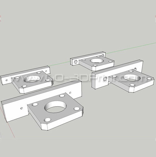 Flashforge Creator Uprated Motor Stepper Mount / Holder (Y-Axis)