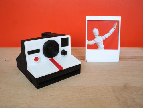 Minature Polaroid Camera with Instagram Picture Frame