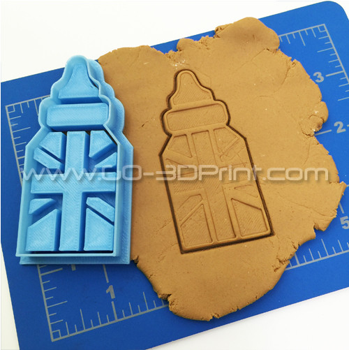 United Kingdom Royal Family Baby Bottles Union Jack Iconic British Flag Cookie Cutter