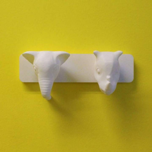 Elephant and Rhino - Animal Coat Hanger