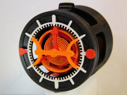 3D-printed Watch with Tourbillon