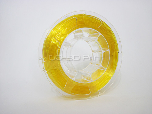 Transparent Yellow Flexible TPE 3D Printing Filament 1.75mm 200g