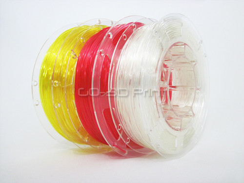 Transparent Flexible TPE 3D Printing Filament Value Pack 3x 200g