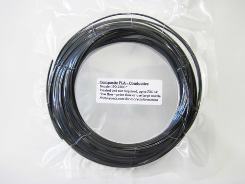 Proto-Pasta Electrically Conductive Carbon PLA 3D Printing Filament 1.75mm (50g) Sample