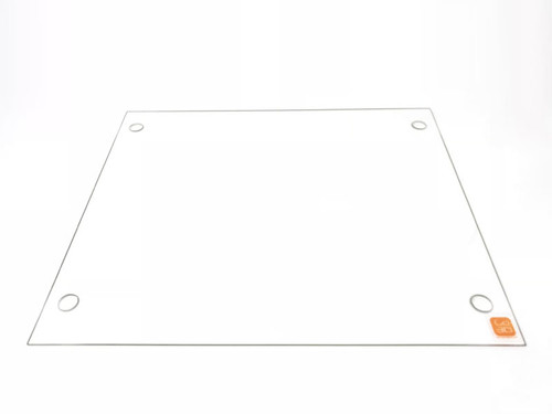 310mm x 370mm Borosilicate Glass Plate w/ Screw Holes for Tevo Tornado 3D Printers