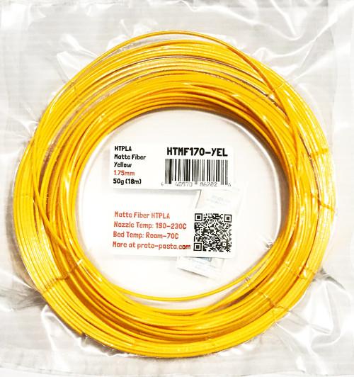 Proto-Pasta Matte Fiber HTPLA - Yellow 3D Printing Filament 1.75mm (50g) Sample
