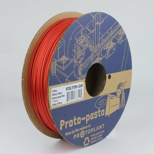 Proto-Pasta Metallic HTPLA - Candy Apple Red 3D Printing Filament 1.75mm (500 g)