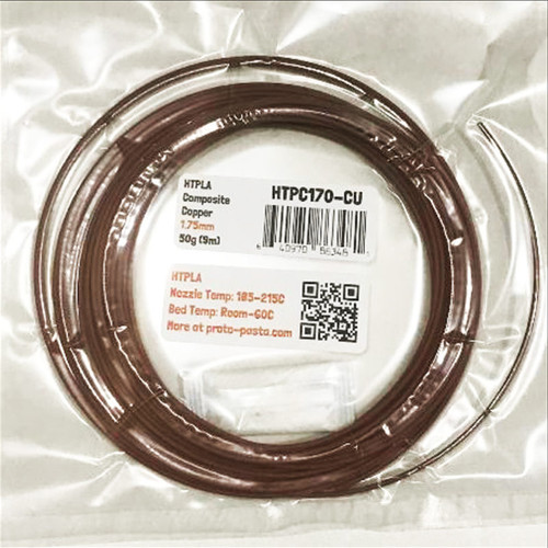 Proto-Pasta Copper Metal Composite HTPLA 3D Printing Filament 1.75mm 50G