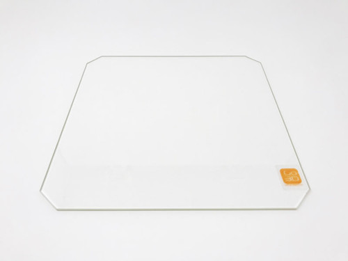 220mm x 220mm Borosilicate Glass Plate w/ corner cut for 3D Printing