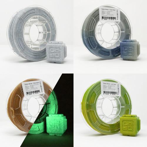 Silver / Gold Flake Color Change Marble Value Set 3D Printing PLA Filament 4pcs