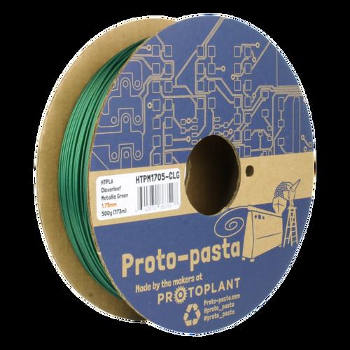 Proto-Pasta Metallic HTPLA - Cloverleaf Green  3D Printing Filament 1.75mm (500 g)