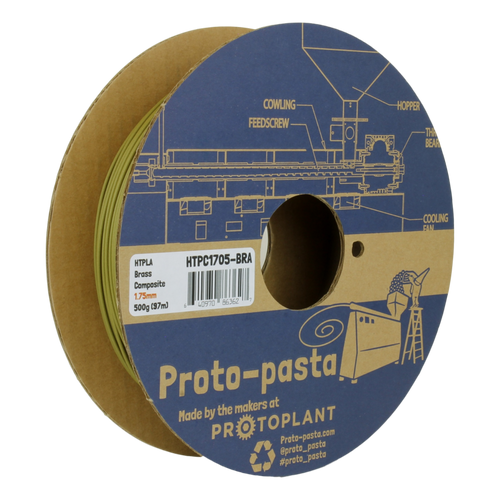 Proto-Pasta Brass Metal Composite HTPLA 3D Printing Filament 1.75mm 500G