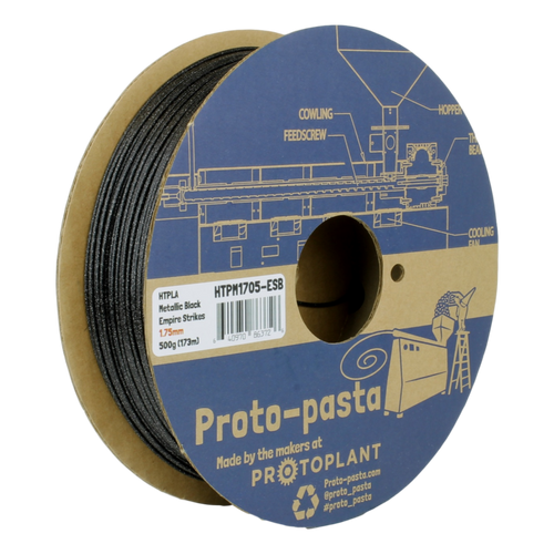 Proto-Pasta Metallic HTPLA - Empire Strikes Black  3D Printing Filament 1.75mm (500 g)