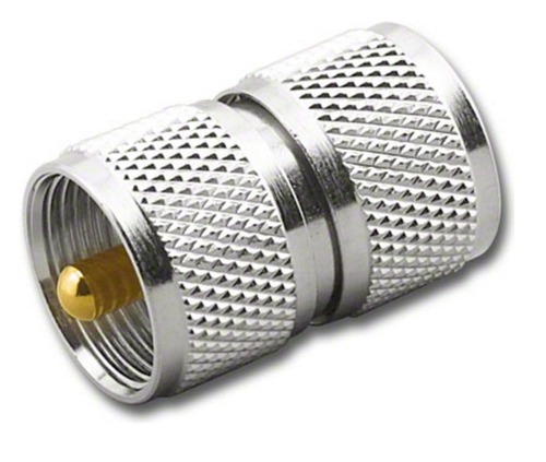 UHF Double Male Barrel Coaxial Adapter Connector