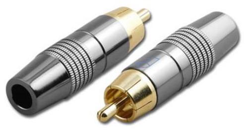 RCA Male Plug Professional Coaxial Connector - RCA-6003-D65