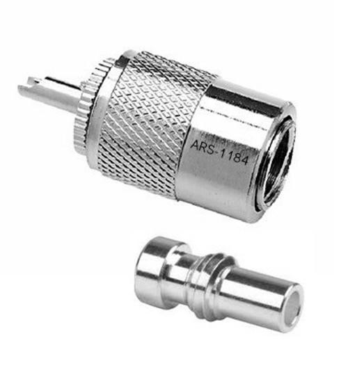 PL-259 / UG-176 Silver Teflon Coaxial Connector for RG-8X