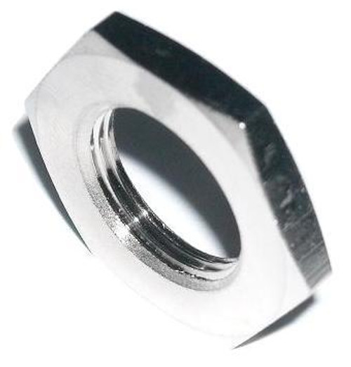 Oversized Nut for Type N Bulkhead Coax Connectors Nickel Plated Brass