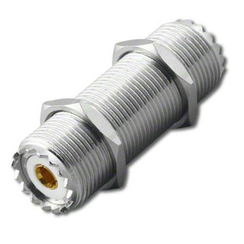 6-Inch - UHF-Female SO-239 Bulkhead Coaxial Connector