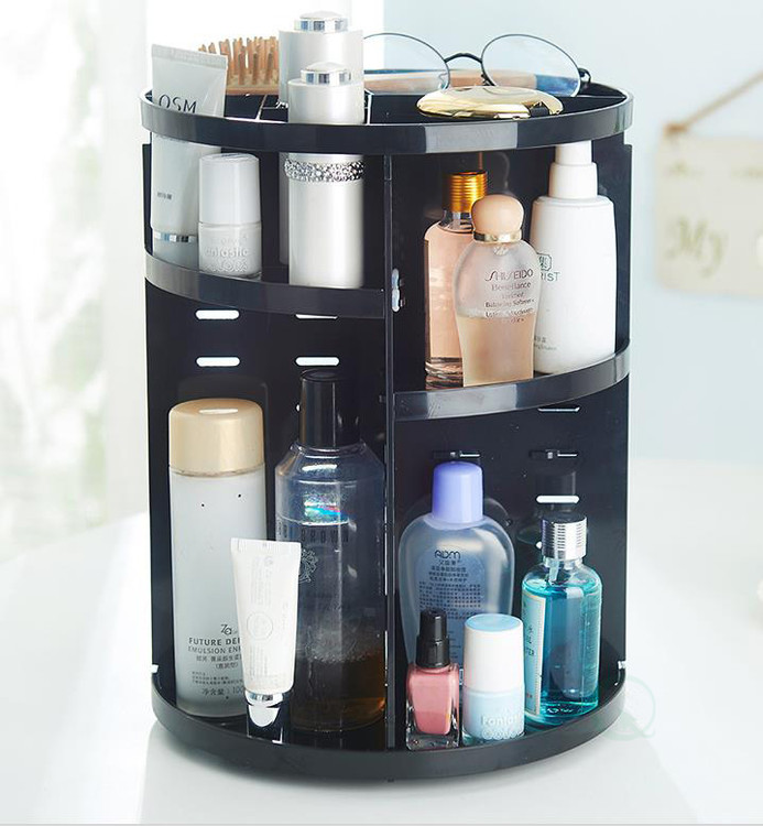 Rotating Cosmetic Storage Tower, Makeup Organizer