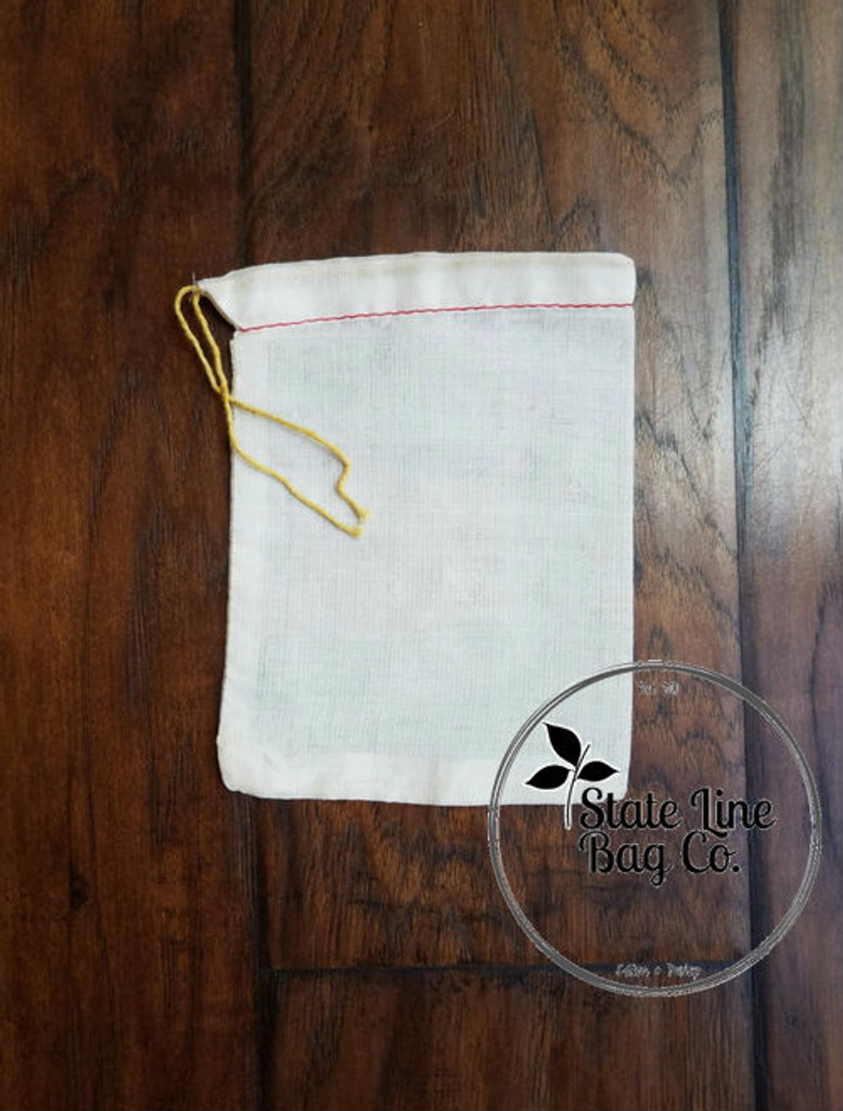 "5"" x 7"" Economy Single - Drawstring Cotton Muslin Bag"