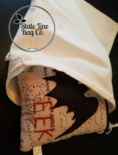 "Premium Double - Drawstring Cotton Muslin Bag 8"" x 12"""