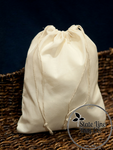 "16"" x 20"" Premium Double-Drawstring Cotton Muslin Bags"