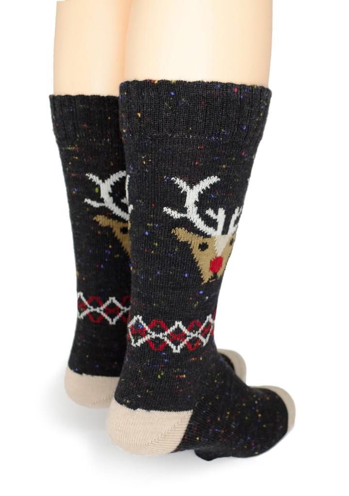 Reindeer Holiday Alpaca Wool Socks  - *NEW*
