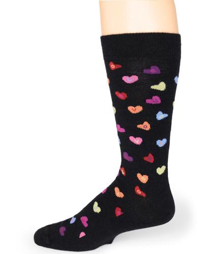 Candy Heart LOVE - Alpaca Socks Side