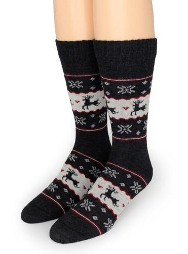 Fair Isle Reindeer Socks  - *NEW*
