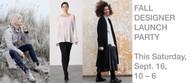 LeslieJane Fall Designer Launch, Saturday September 16, 10-6