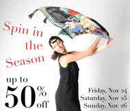 Spin in the Season up to 50% off this Friday, Saturday and Sunday