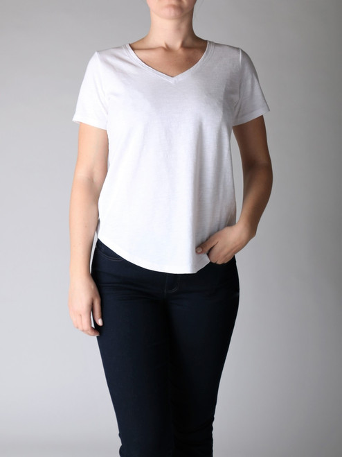 MARGARET O'LEARY SOFT VEE TEE (45256)