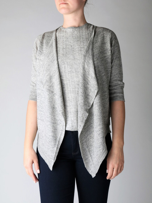 MARGARET O'LEARY SIMPLE SHORT CARDIGAN (45261)