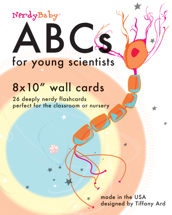 """Classic Science Alphabet 8x10"""" Wall Cards"""