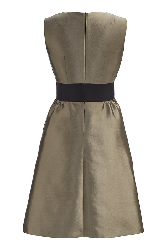 The Sinclair Dress back — Champagne