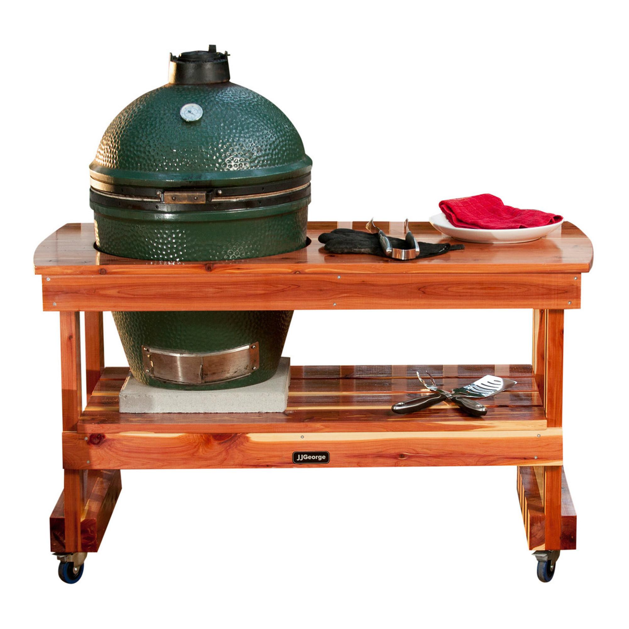 Large Big Green Egg Table | Best Big Green Egg Table | JJGeorge