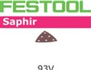 Festool Saphir | 93mm Delta | 80 Grit | Pack of 25 (487518)