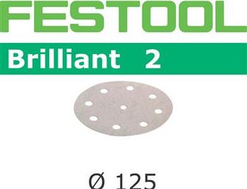 Festool Brilliant 2 | 125 Round | 60 Grit | Pack of 10 (495990)