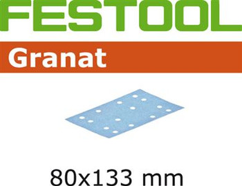 Festool Granat | 80 x 133 | 400 Grit | Pack of 100 (497126)