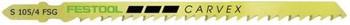 Festool Carvex Jigsaw Blade | S105/4FSG, 4 1/8 Inch, 6 TPI, 20-Pack (499475)