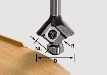 Festool Radius Router Bit 1 mm, 8mm Shank (499811)
