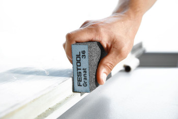 "Festool Granat   Abrasive Block 2-23/32"" x 3-27/32"" x 1""   60 Grit x 6 pieces (201081)"