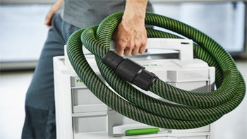 "Festool Antistatic Hose w/ Sleeve w/ Angle Adapter 1-1/16"" x 11.5' (27/32 x 3.5m ) (500680)"