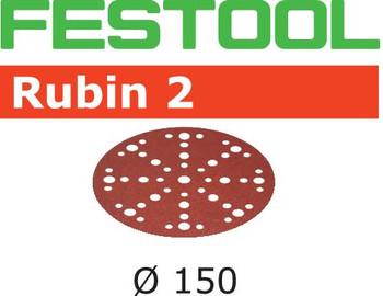 Festool Rubin 2 | 150 Round | 80 Grit | Pack of 10 | Multi-Jetstream 2 (575180)