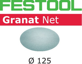 Festool Granat Net   D125 Round   220 Grit   Pack of 50 (203299)
